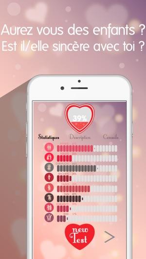 test amour 2016 calculateur de compatibilite amoureuse dans l app store. Black Bedroom Furniture Sets. Home Design Ideas