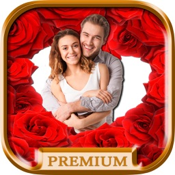 Love frames for pictures create postcards with romantic love pictures - Premium
