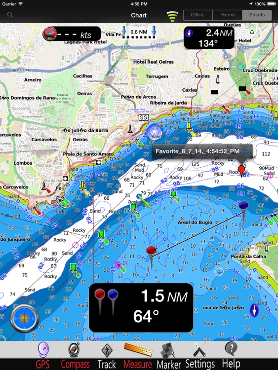 Portugal nautical charts pro by mapitech for Fishing spots app