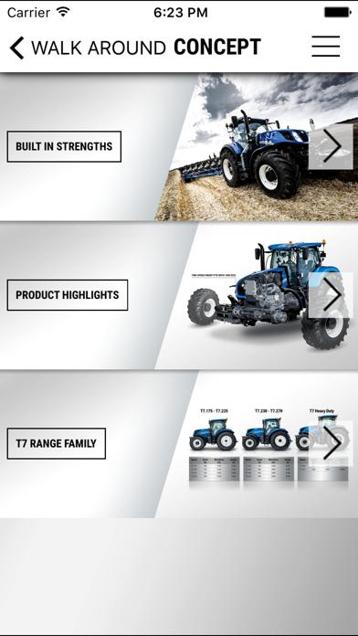 New Holland Agriculture T7 Heavy Duty range app screenshot three