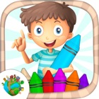Coloring book for kids - pictures and drawings to paint with girls & boys color games icon