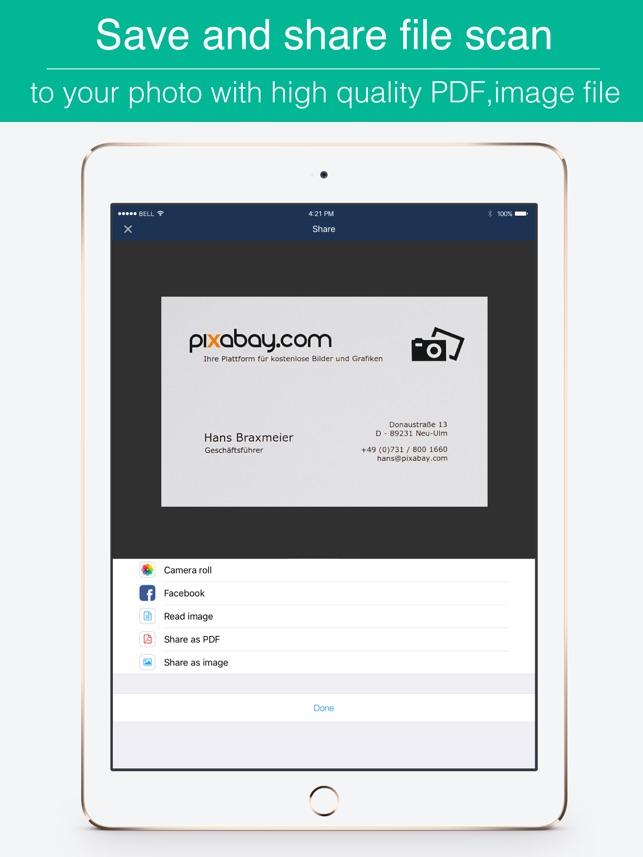 Biz Cards Scannable Business Card Scanner Free Receipt