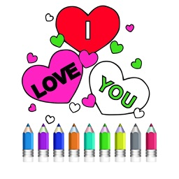 Interactive touch Coloring Book for Valentine's Day - Paint Studio for Adults and Love Couples All Free Pictures