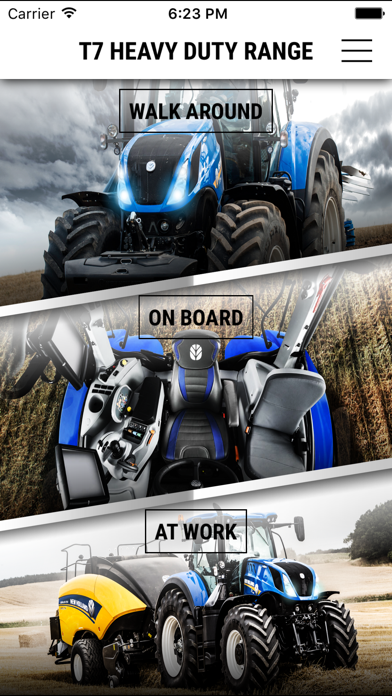 New Holland Agriculture T7 Heavy Duty range app screenshot one