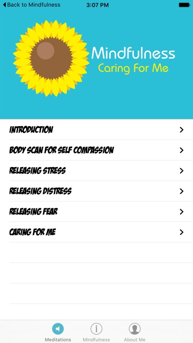 Mindfulness Caring for Me screenshot one