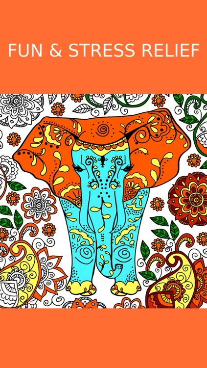 Animal Coloring Book For Adults screenshot-3