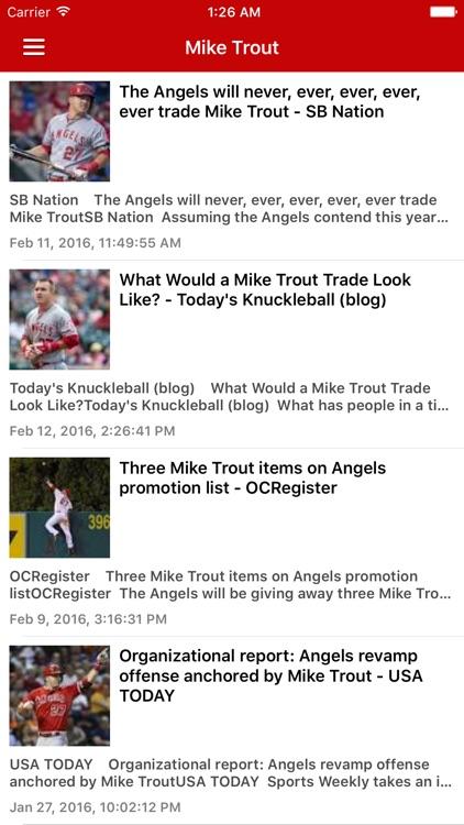 News Surge for Angels Baseball News Pro screenshot-4