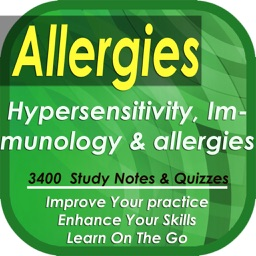 Allergies, Hypersensitivities & immunology: 3400 study notes, cases & quizzes