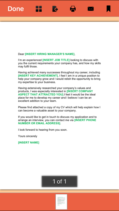 Cover Letter -  145 Templates for Any Job Screenshot