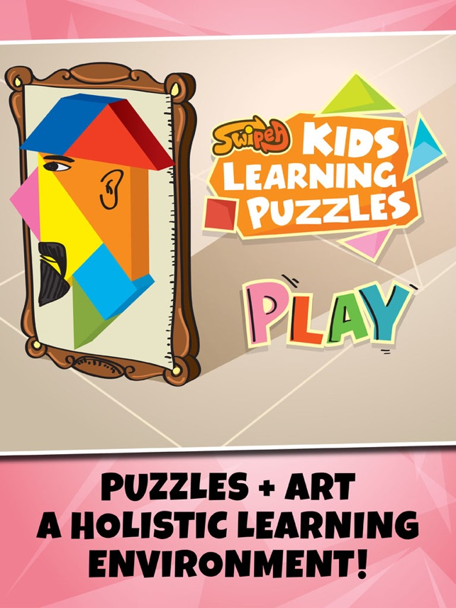 Kids Learning Puzzles Portraits Tangram Playtime