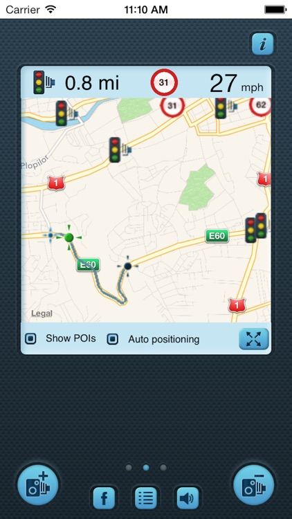 i SpeedCam UK (Speed Camera Detector with GPS Tracking) screenshot-1