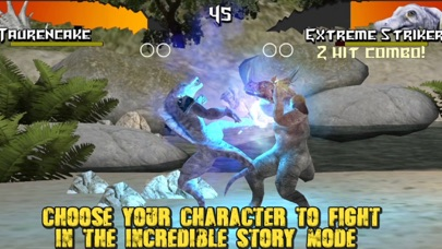 Dinosaurs Free Fighting Game Screenshot on iOS