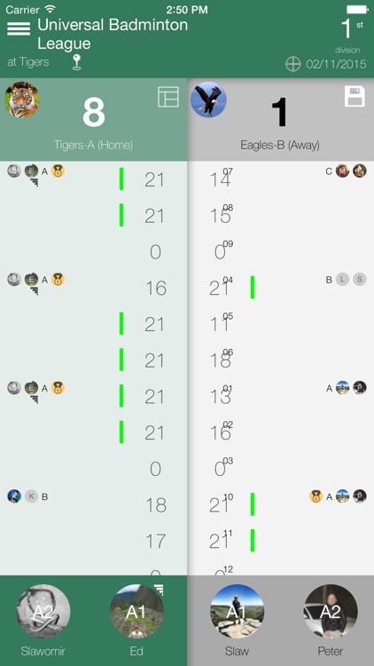 Badminton Scorecard screenshot-0