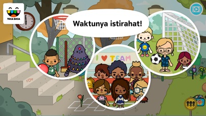 Screenshot for Toca Life: School in Indonesia App Store
