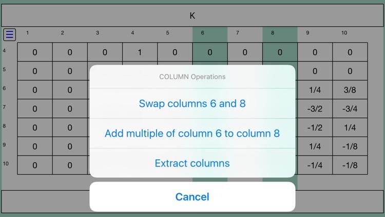 Touch Matrix Algebra PRO screenshot-4