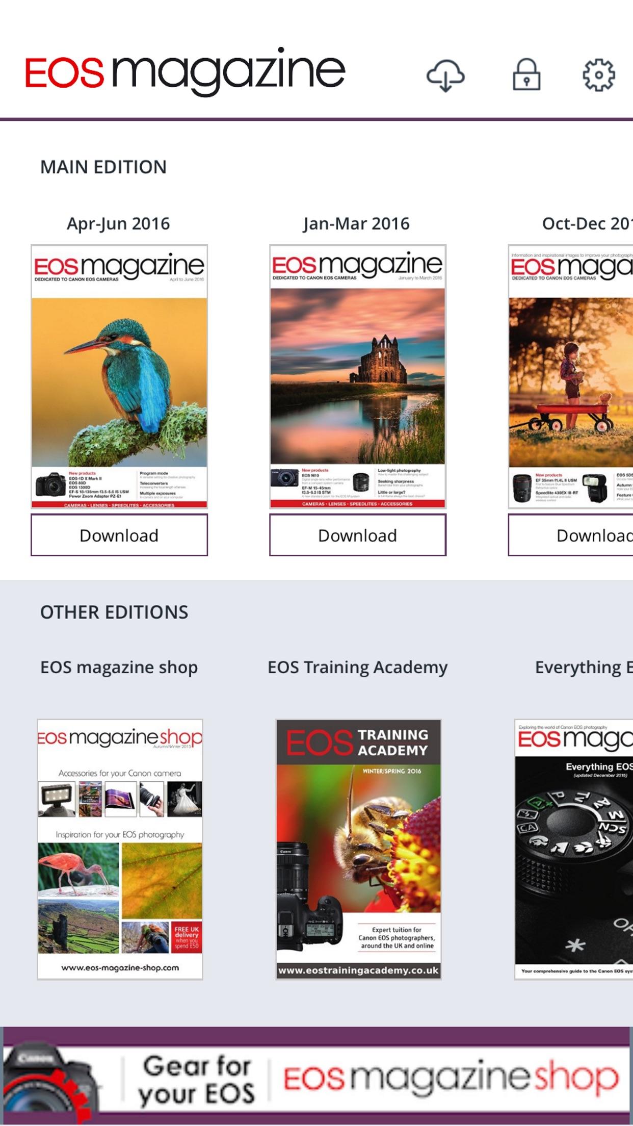 EOS magazine Screenshot