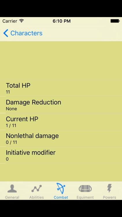 PF Character Sheet screenshot-3