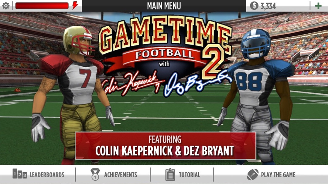 Gametime Football 2 W Colin Kaepernick Dez Bryant