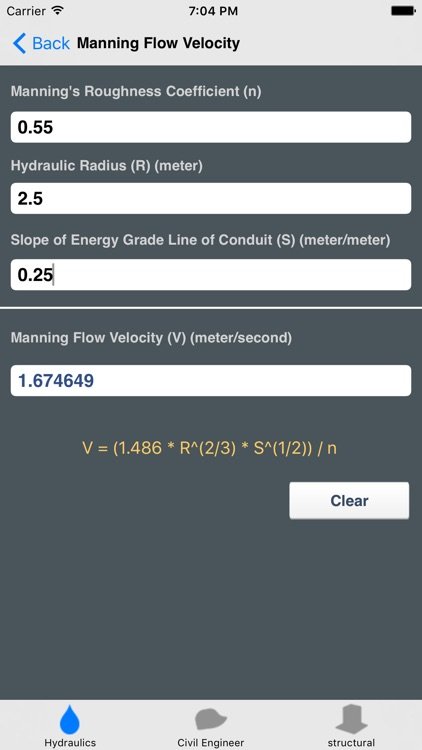 Hydraulics and Waterworks Calc.