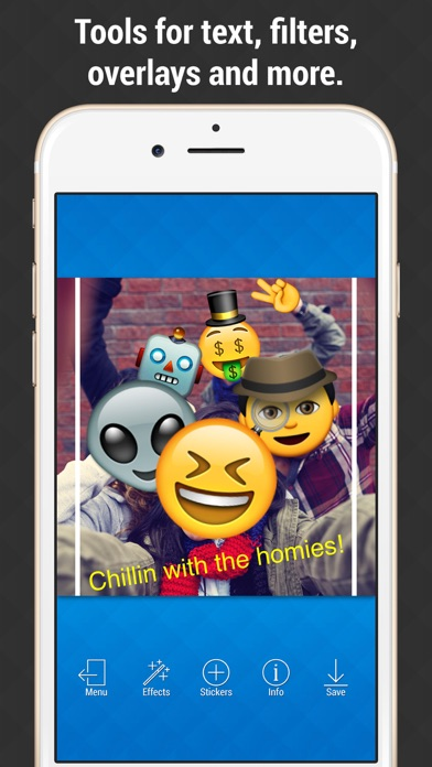 Emoji Picture Editor - Add Emojis to your Photos screenshot three