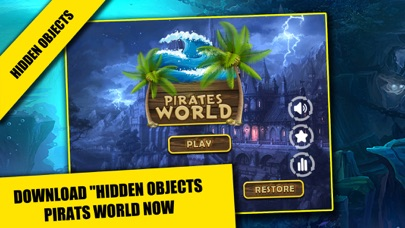 Pirates World Hidden objects adventure game : Search and Find objects screenshot one