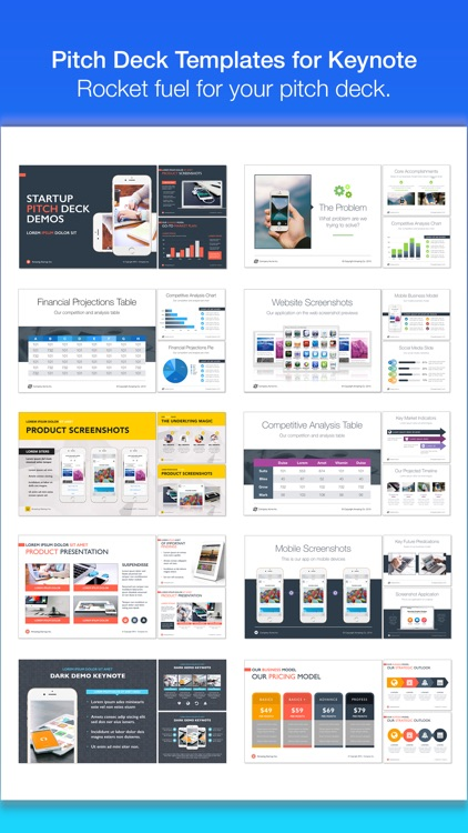 Pitch Deck Templates for Keynote