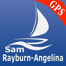 Sam Rayburn Reservoir and Angelina National Forest  GPS Nautical charts