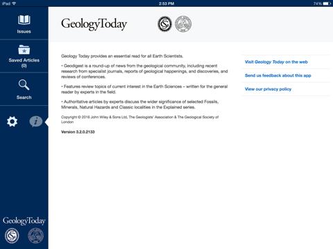 Screenshot of Geology Today