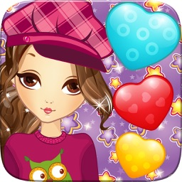 Heart Star Book of Life Sweet Game 3 Match