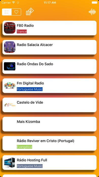 Rádios - O melhor de rádio Português - Simples, rápido e gratuito screenshot one