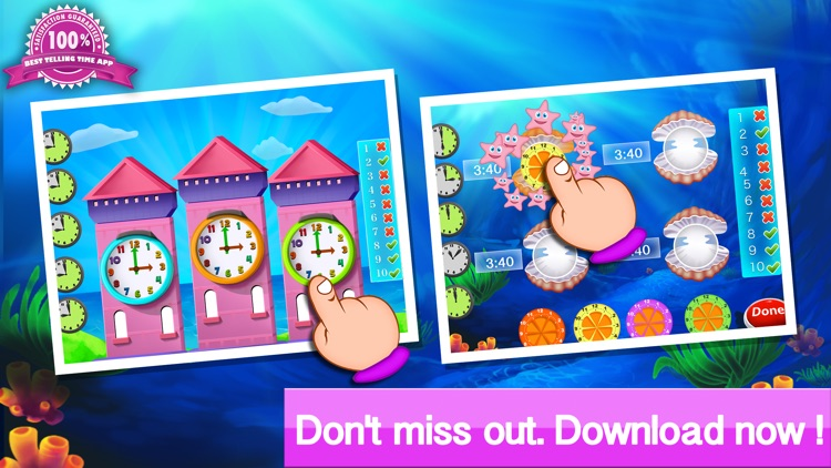 Telling the time - Teaching telling time with interactive clocks and fun games screenshot-4