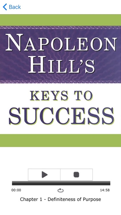 Napoleon Hill's Keys to Success Meditation Audios: The 17 Principles of Personal Achievement From Mind Cures. screenshot-3