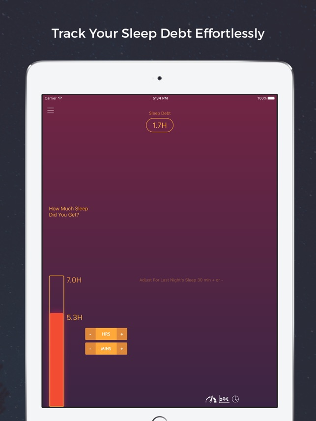 Sleep Debt Pro - Improve Performance and Productivity Screenshot