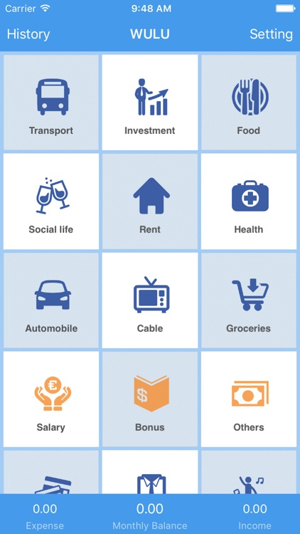 Wulu Finance - manage your expenses and finances