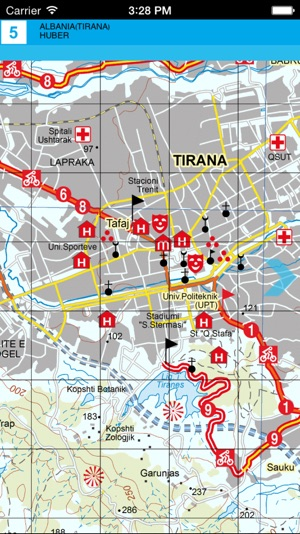 Tirana Durres Kruja Tourist map on the App Store