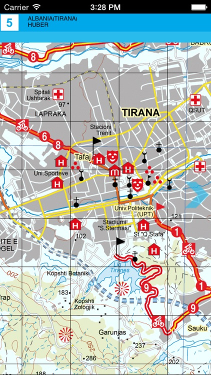 Tirana, Durres, Kruja. Tourist map. screenshot-3