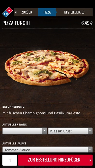 Screenshot for Domino's App für das iPhone in Germany App Store