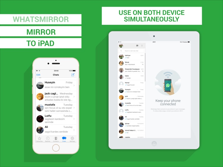 Messenger for WhatsApp - iPad version Free screenshot-3