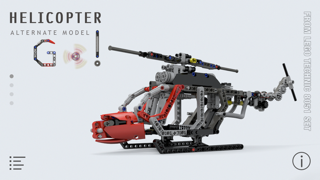 Helicopter for LEGO Technic 8051 Set - Building Instructions by