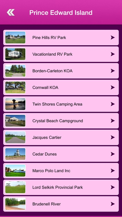 Canada Campgrounds and RV Parks