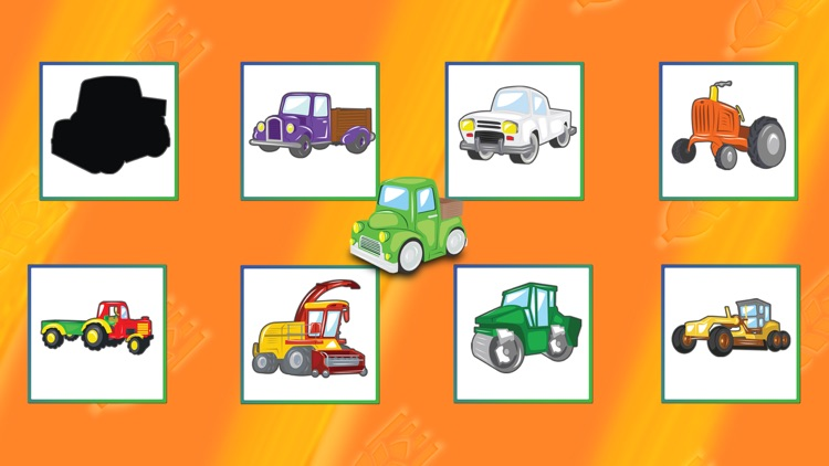 Trucks Cars Diggers Trains and Shadows Puzzles for Kids Lite screenshot-3