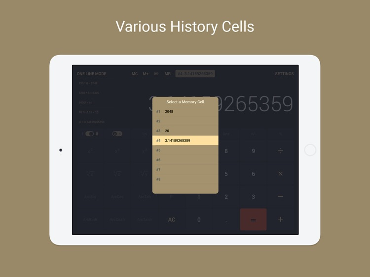 Calcly: Free Universal Calculator for iPad