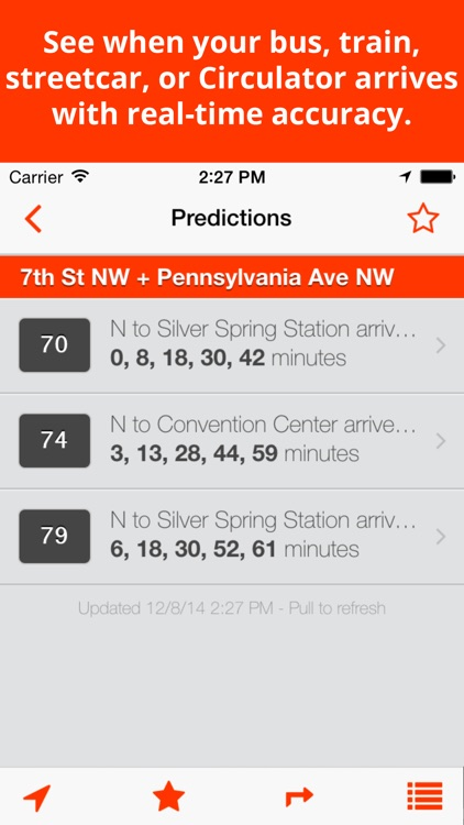 BusTrackDC - real time bus & rail info for DC screenshot-1