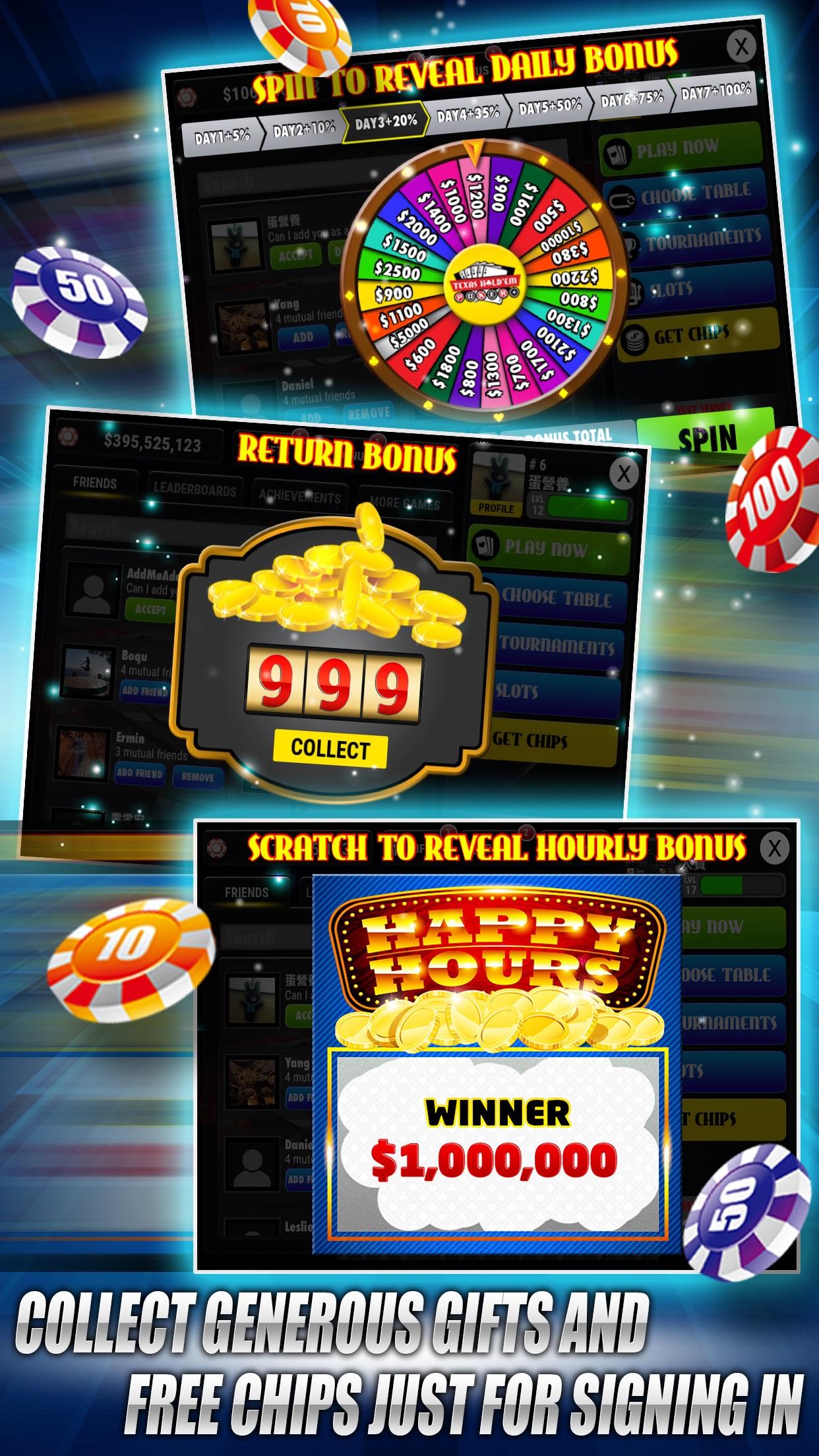 Boqu Texas Hold'em Poker - Free Live Vegas Casino Screenshot