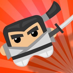Bouncy Samurai - Tap to Make Him Bounce, Fight Time and Don't Touch the Ninja Shadow Spikes