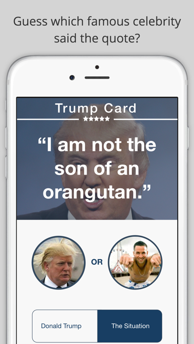 Trump Card: Donald Trump Quote Game