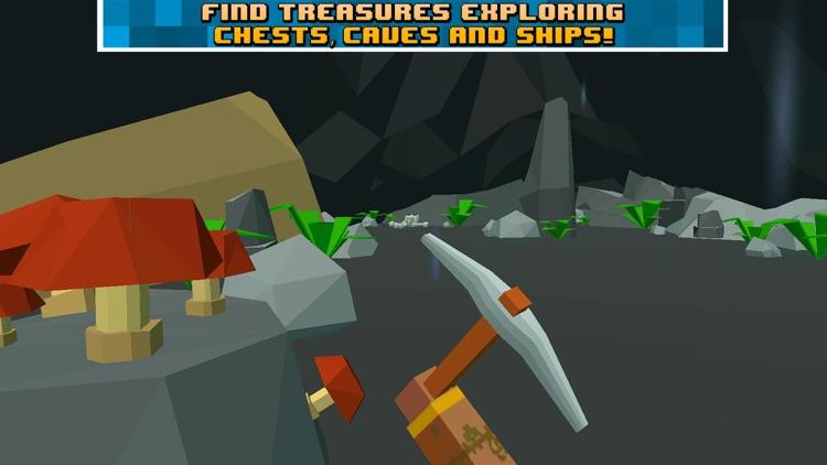 Pixel Pirate Island Survival Simulator 3D screenshot-4