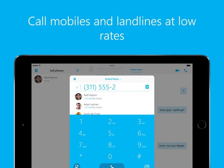 Skype for iPad screenshot-4