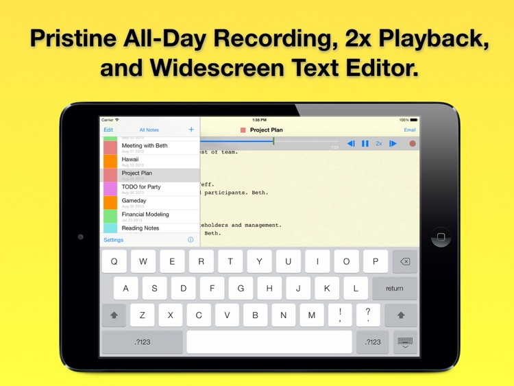 Audio Notebook: Voice Recorder and Notepad