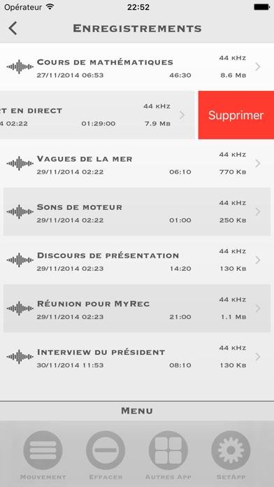 Screenshot #3 pour My Rec - Enregistreur Audio